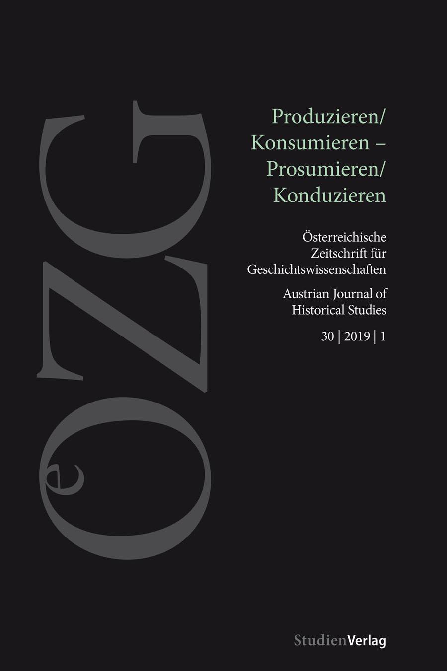 Ansehen Bd. 30 Nr. 1 (2019): Produzieren/Konsumieren – Prosumieren/Konduzieren