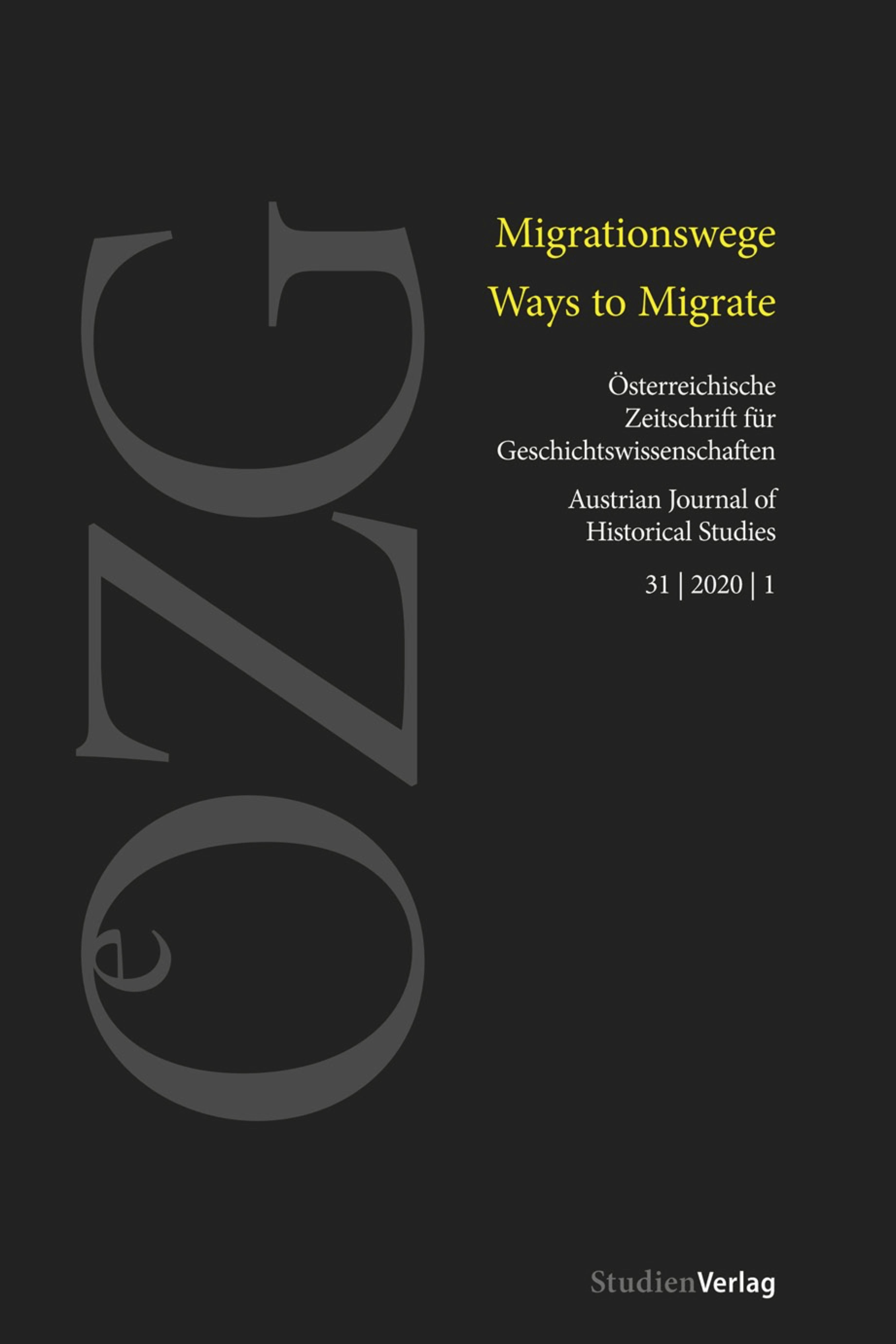 Ansehen Bd. 31 Nr. 1 (2020): Migrationswege