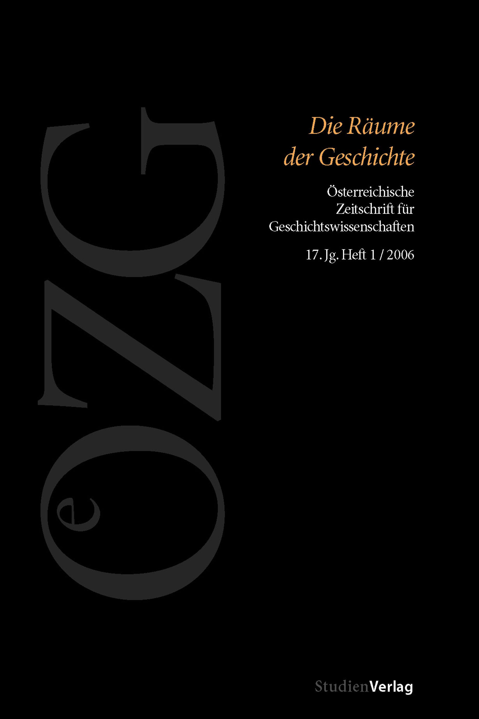 Ansehen Bd. 17 Nr. 1 (2006): Die Räume der Geschichte