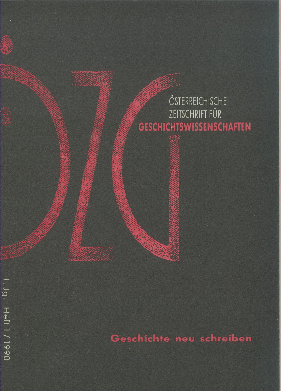Ansehen Bd. 1 Nr. 1 (1990): Geschichte neu schreiben