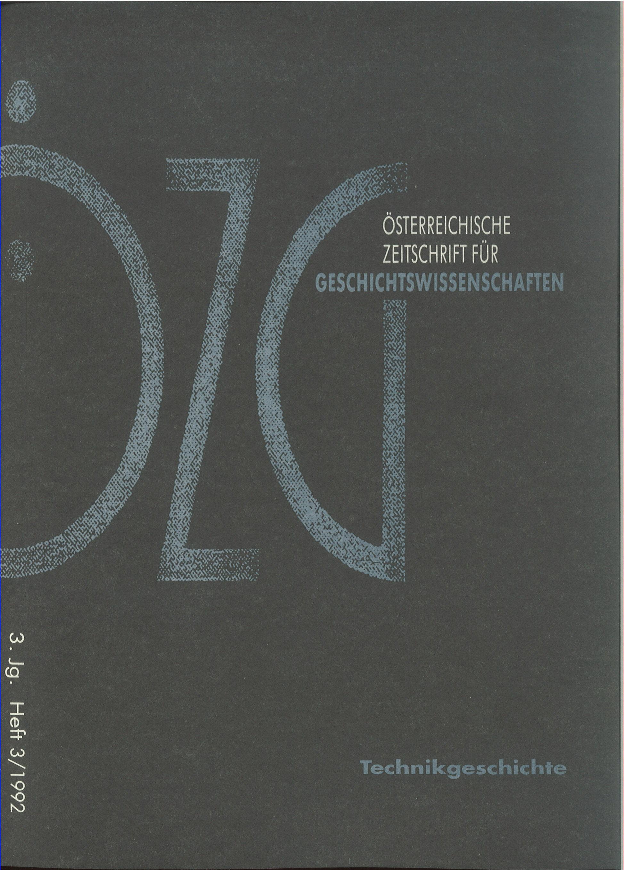 Ansehen Bd. 3 Nr. 3 (1992): Technikgeschichte