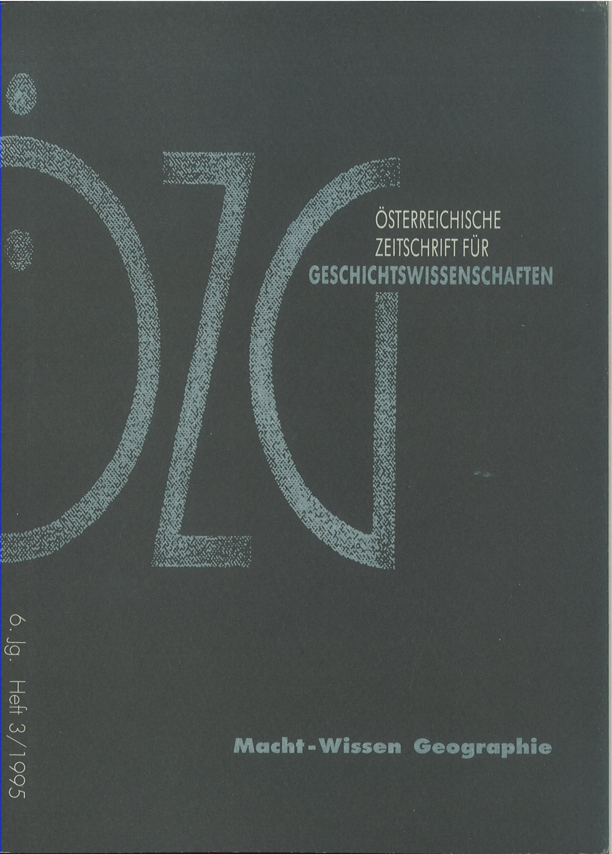 Ansehen Bd. 6 Nr. 3 (1995): Macht-Wissen Geographie