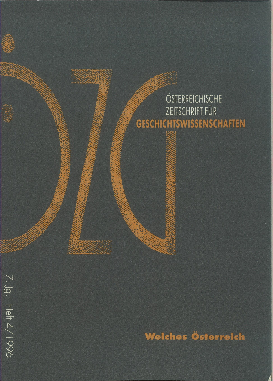 Ansehen Bd. 7 Nr. 4 (1996): Welches Österreich